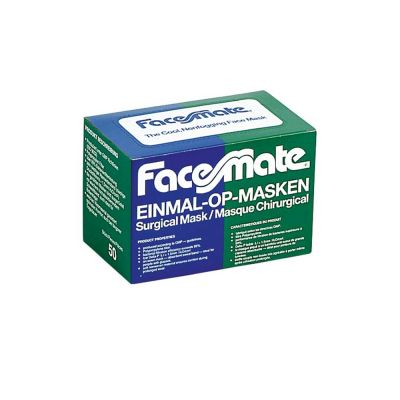 Verpackung Einmal-OP-Masken grün Facemate