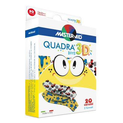 Pflasterpackung Quadra 3D Boys