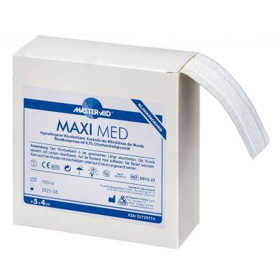 Verpackung Master Aid MAXI MED – Wundschnellverband mit antibakterieller Wundauflage im Format 5m x 4cm