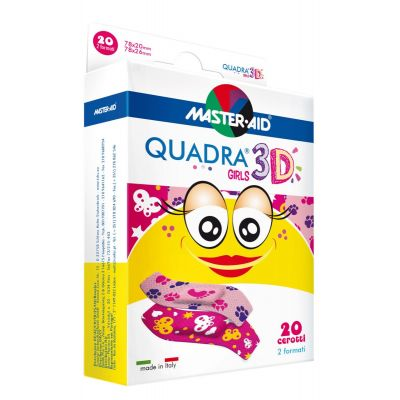 Verpackung Master Aid QUADRA® 3D GIRLS – Kinderpflaster (2 Formate)