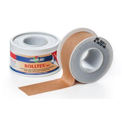 Verpackung und Einzelrolle etwas abgewickelt ROLLTEX Skin hautfarbenes Spulenpflaster