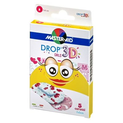 Verpackung Master Aid DROP® 3D GIRLS – Kinderpflaster