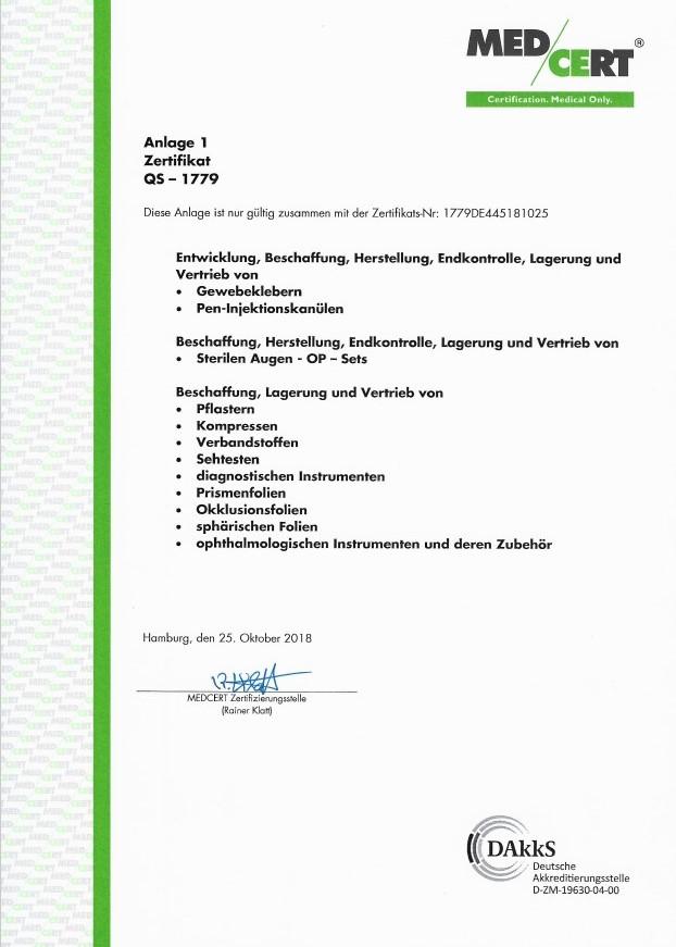 MED/CERT Zertifikat Seite 2
